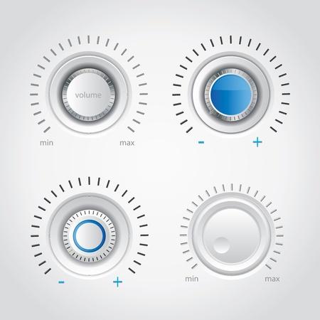 White volume knob set Illustration