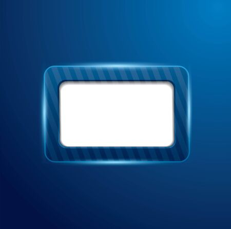 Blue display screen with lights Stock Vector - 17411346