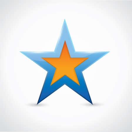 Blue and orange star