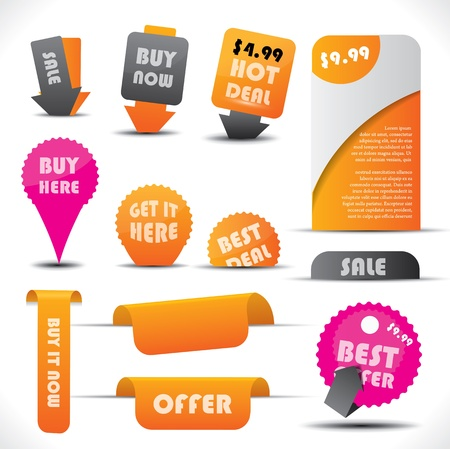 Labels - special offer and sale stickers Stock Vector - 17583812