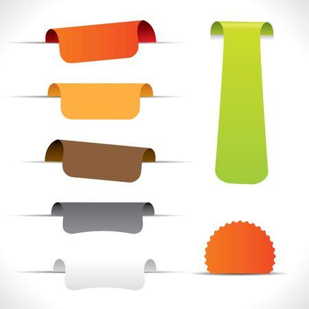 promotional offer: Label set in different color variations