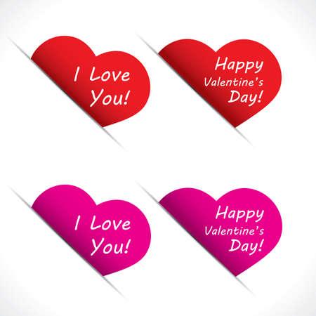 Heart label set - Valentine