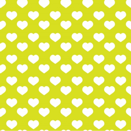 Seamless green heart pattern - valentine wrapping design  Illustration
