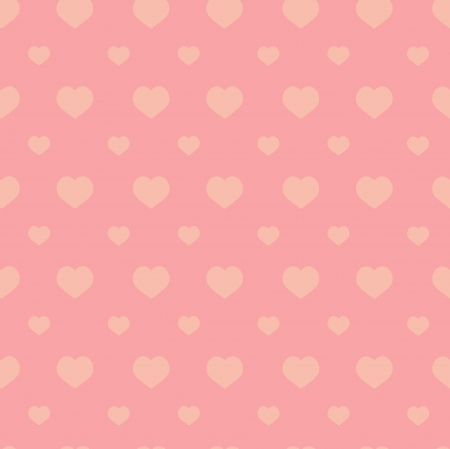 Seamless pink heart pattern - valentine wrapping design