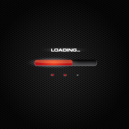 Red progress bar on dark background