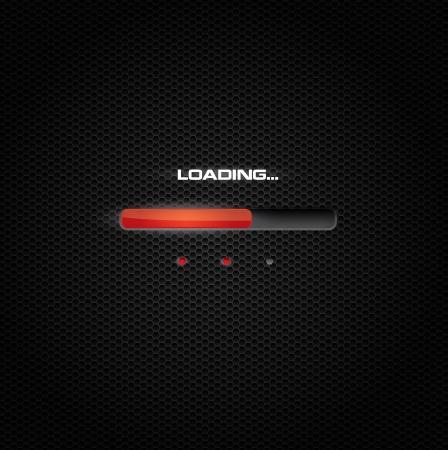 Red progress bar on dark background Фото со стока - 17583813