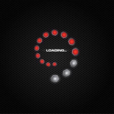 pre loader: Trendy progress bar in spiral design - red Illustration