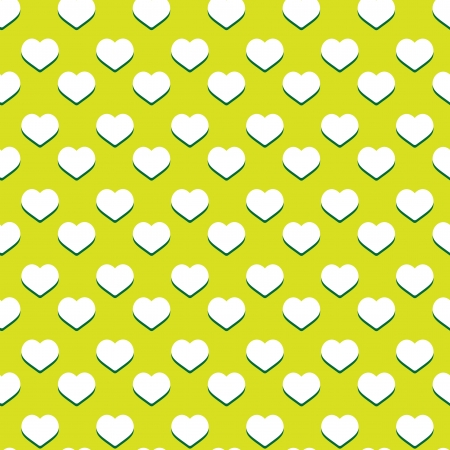 Seamless heart pattern with retro colors - valentine texture Illustration