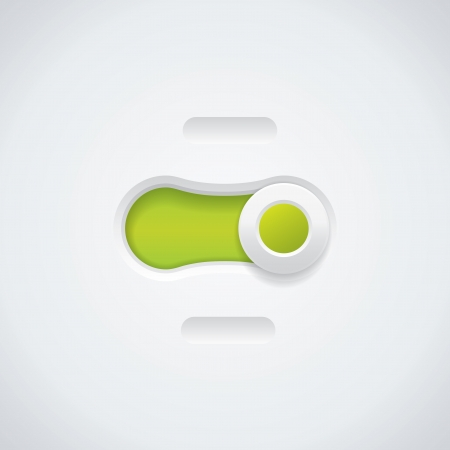 Green and white button Vector