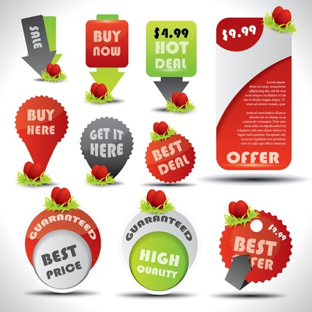 Easter decorated special offer and retail labels