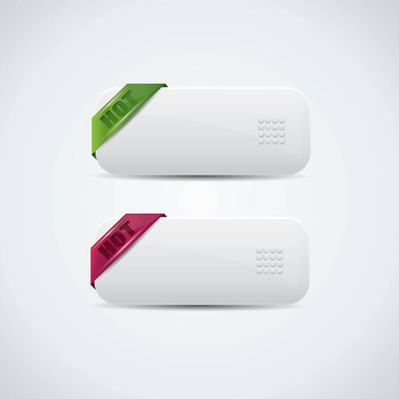 White buttons with Hot labels Illustration