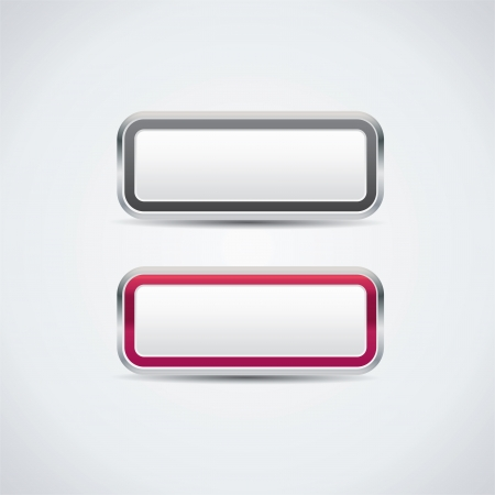 White vector buttons Illustration