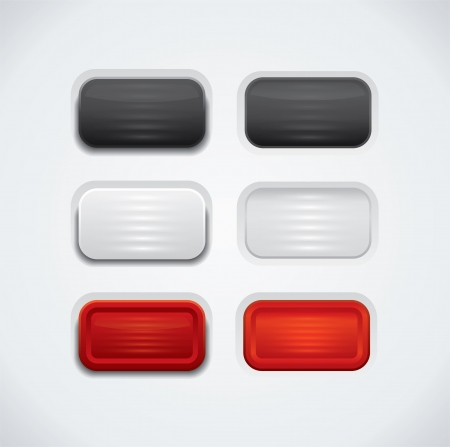 UI push buttons in different color variations