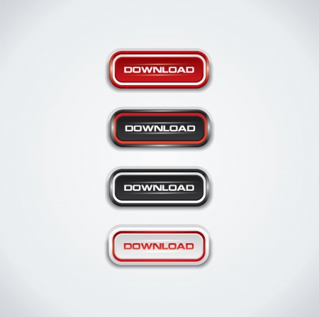 Modern download buttons  Illustration
