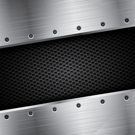 steel frame: Metallic background with steel frame