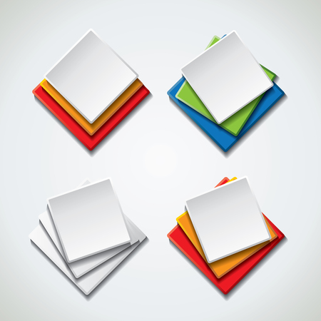 Vector banners, icons
