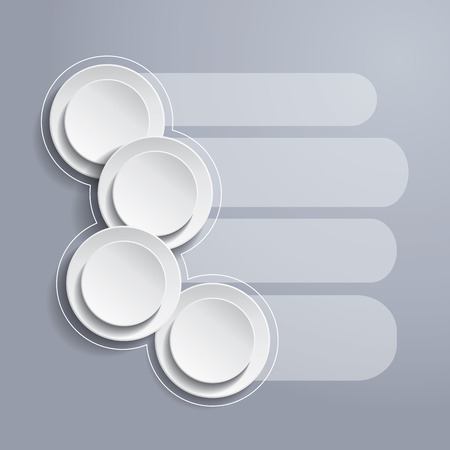 Infographics background with white circles