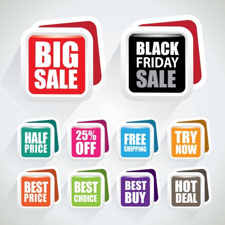 Big sale and other special offer tags