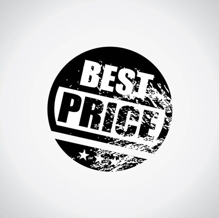 offer icon: Best price tag with grungy ink splatter