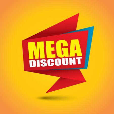 Mega discount bubble banner