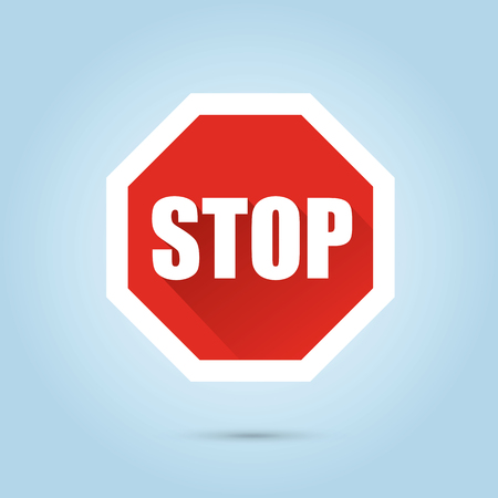 Vector stop sign - flat design