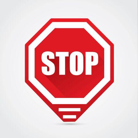 Stop sign - vector flat design