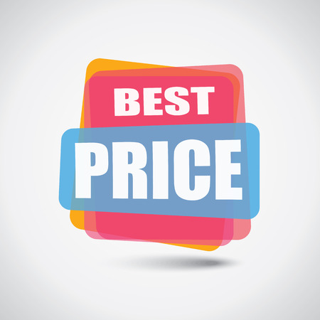 Promotional best price banner in colorful design