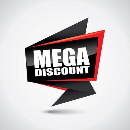 Mega discount glossy price tag