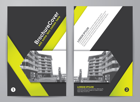 Brochure design. Corporate business template for report, catalog, flyer or magazine
