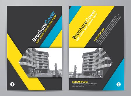 Brochure design. Corporate business template for report, catalog, flyer or magazine.