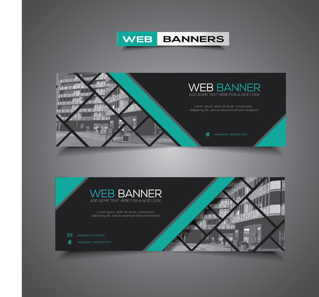 Abstract web banner with corporate city business template