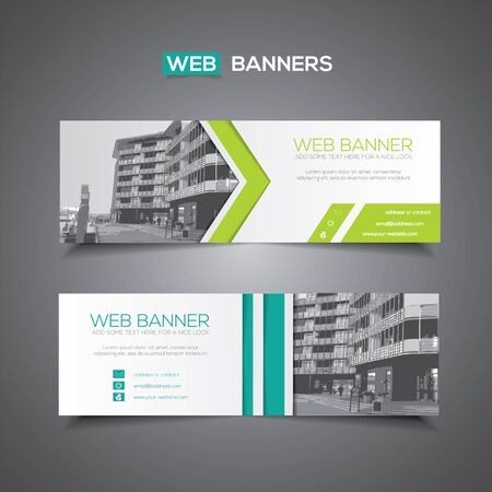 Abstract vector banner for web template or print use as header background