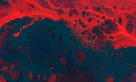 Abstract red and dark blue in random form. Design for wallpaper.