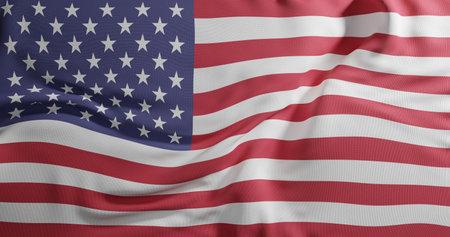 United States Of America Flag. 3D rendering illustration. Reklamní fotografie