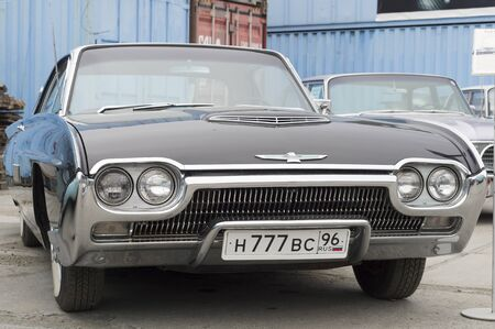 thunderbird: YEKATERINBURG, RUSSIA - SEPTEMBER 07, 2014: Ford Thunderbird presented at the exhibition of retro-cars passing every year in Yekaterinburg in Russia