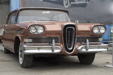 YEKATERINBURG, RUSSIA - SEPTEMBER 07, 2014: Ford Edsel Corsair presented at the exhibition of retro-cars passing every year in Yekaterinburg in Russia
