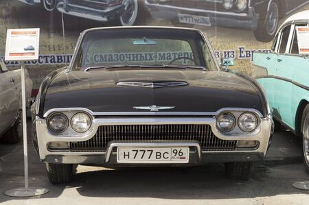 thunderbird: YEKATERINBURG, RUSSIA - MAY 23, 2015: Ford Thunderbird presented at the exhibition of retro-cars passing every year in Yekaterinburg in Russia