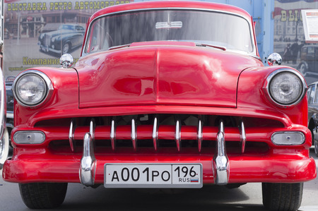 chevy: YEKATERINBURG, RUSSIA - MAY 23, 2015: Chevrolet Chevy presented at the exhibition of retro-cars passing every year in Yekaterinburg in Russia Editorial