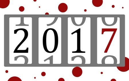new year counter: Vector illustration of a counter with figures count down the years