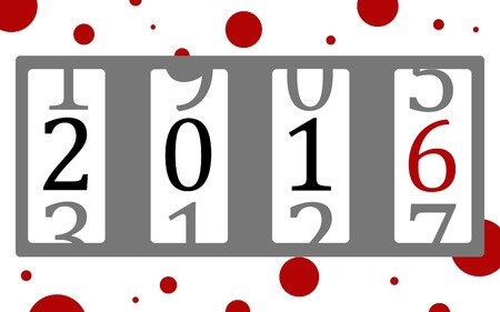 count down: Vector illustration of a counter with figures count down the years
