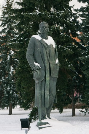 Moscow, Russia - January 17, 2017: Monument to Russian writer Maxim Gorky in Moscow