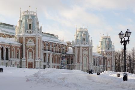 Mosca, Russia - 18 gennaio 2017: Grande palazzo al museo-riserva Tsaritsyno a Mosca Archivio Fotografico - 84302922