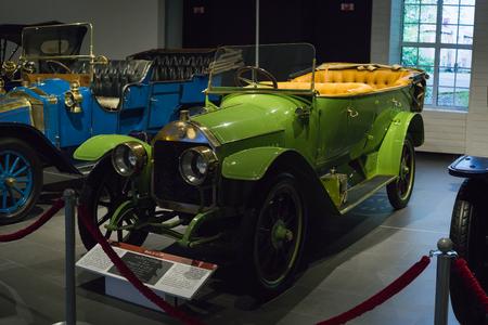 Verkhnyaya Pyshma, Russia - October 20, 2018: Old retro car Benz 818 HP in the museum of automobile equipment in the city of Verkhnyaya Pyshma in Russia
