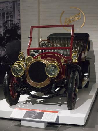 Verkhnyaya Pyshma, Russia - October 20, 2018: Old retro car Delaunay-Belleville HB4 in the museum of automobile equipment in the city of Verkhnyaya Pyshma in Russia
