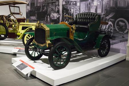 Verkhnyaya Pyshma, Russia - October 20, 2018: Old retro car De Dion-Bouton Type AM in the museum of automobile equipment in the city of Verkhnyaya Pyshma in Russia