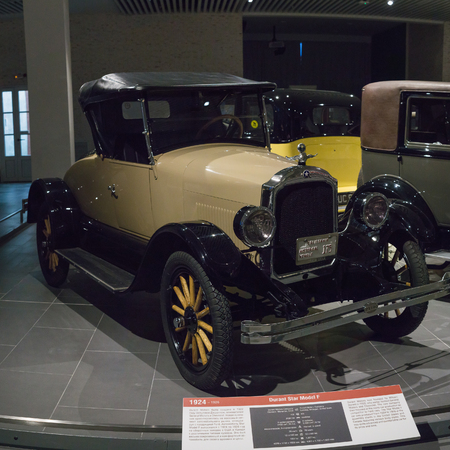 Verkhnyaya Pyshma, Russia - October 20, 2018: Old retro car Durant Star Model F in the museum of automobile equipment in the city of Verkhnyaya Pyshma in Russia