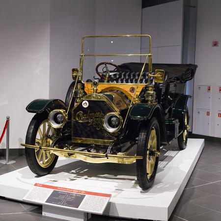 Verkhnyaya Pyshma, Russia - October 20, 2018: Old retro car Chalmers-Detroid Model K 30 in the museum of automobile equipment in the city of Verkhnyaya Pyshma in Russia
