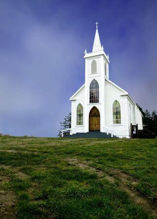 church steeple: Storico Santa Teresa di Avila Chiesa in Bodega, California costruito nel 1859.