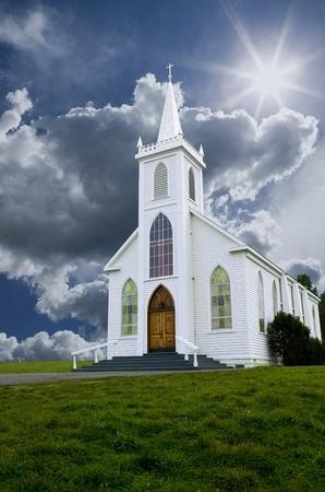 steeples: Historic Saint Teresa of Avila church in Bodega, California built in 1859.