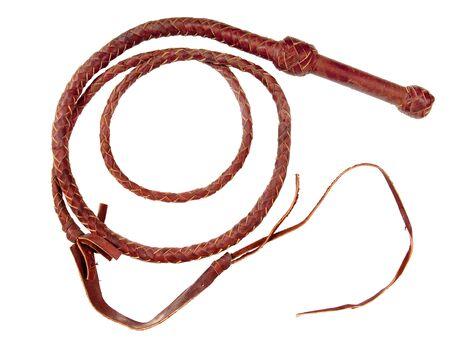 Eine geflochtenem Leder-Peitsche